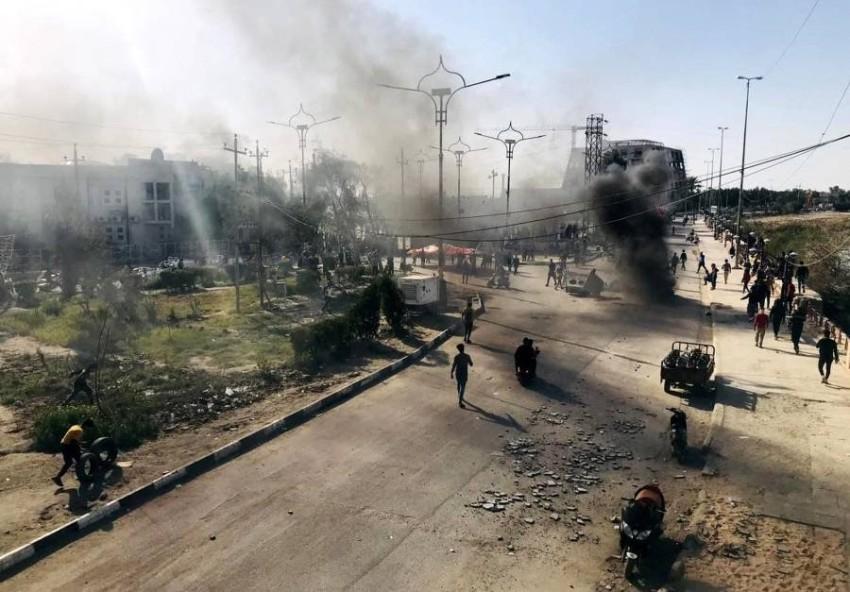مقتل وإصابة 14 عسكرياً في انفجارفي العراق - EPA.