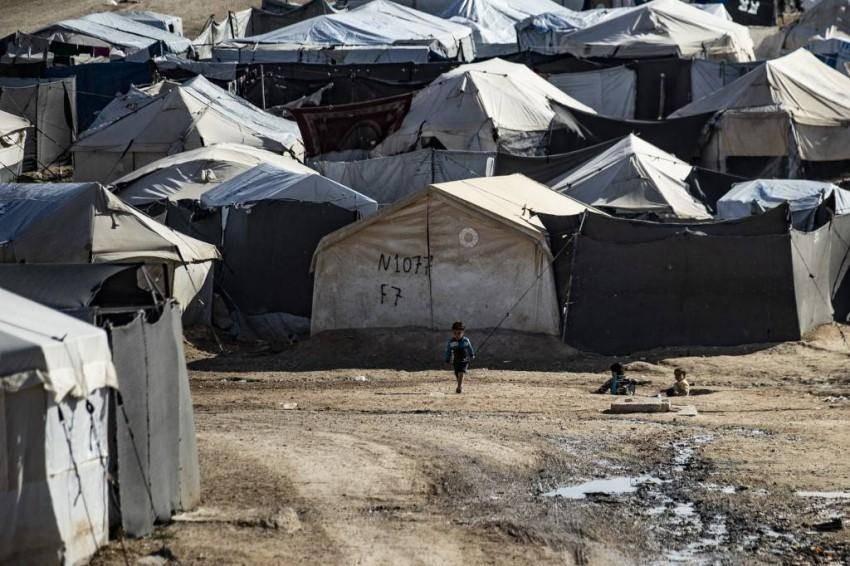 مخيم أبو الهول في سوريا - أ ف ب.