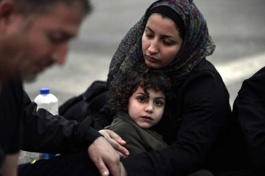 يعاني 75% من اللاجئين السوريين من أعراض نفسية خطيرة - أ ف ب.