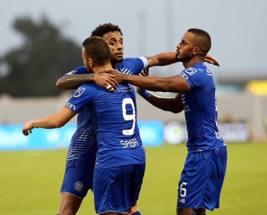 فرحة النصر بالتأهل إلى نهائي كاس الخليج العربي. (من المصدر)