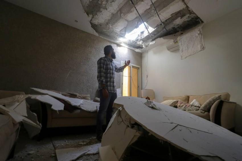 هجوم حوثي سابق على منازل المدنيين بالسعودية.(رويترز)