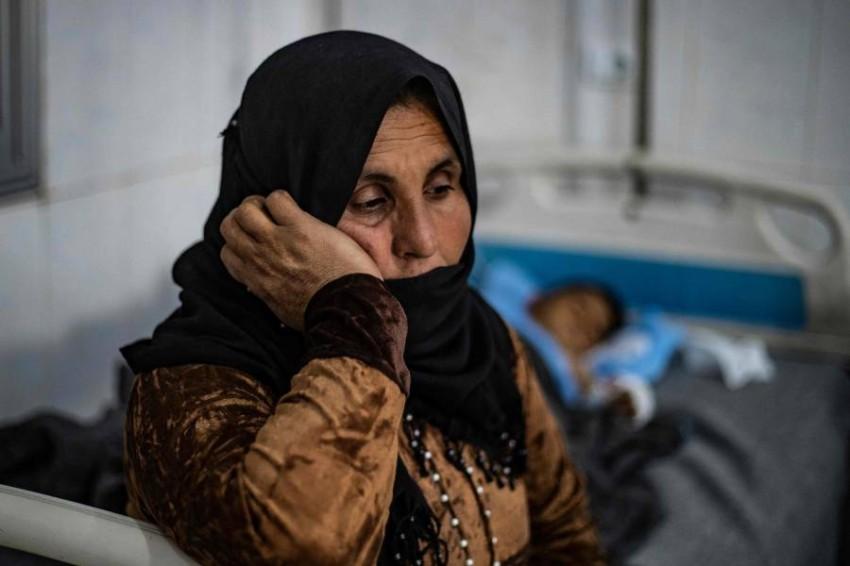 النساء والأطفال أكثر المتضررين من الحرب السورية. (أ ف ب)