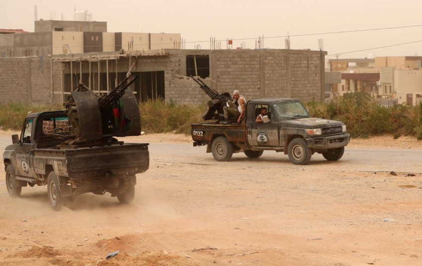 عناصر مسلحة في ليبيا. (رويترز)