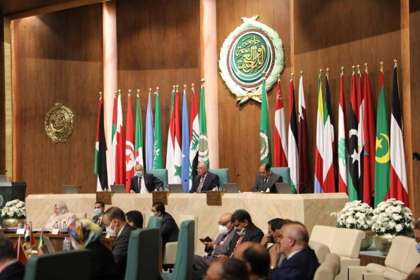 جانب من اجتماع الجامعة العربية.(الرؤية)
