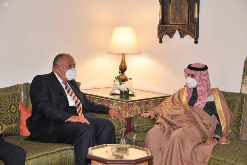 وزيرا خارجية المملكة ومصر. (واس)