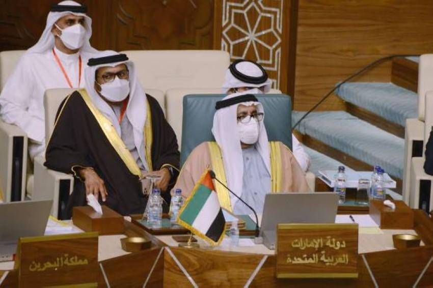 خليفة شاهين المرر يترأس وفد دولة الإمارات. (وام)