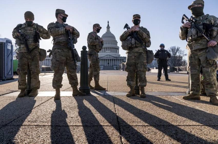 مؤامرة محتملة «لاختراق جماعة مسلحة لمبنى الكابيتول». (أ ب)