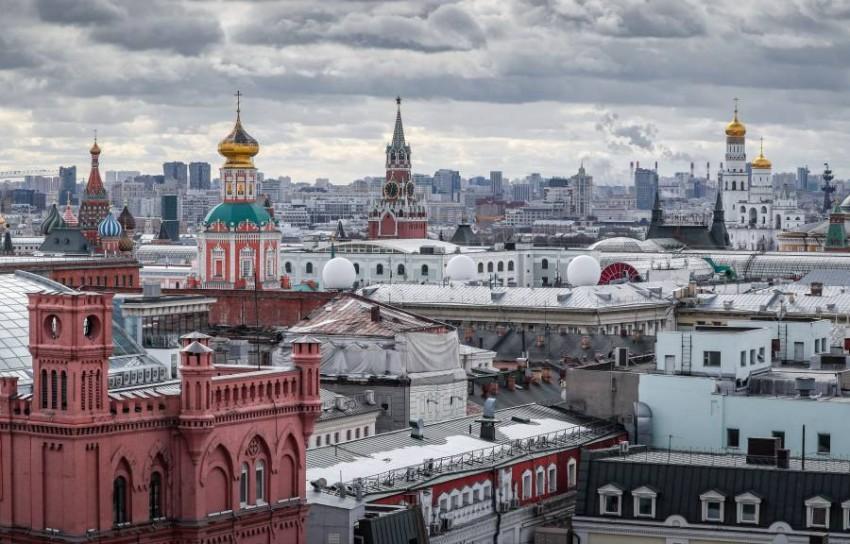 وسط العاصمة موسكو. (إي بي أيه)
