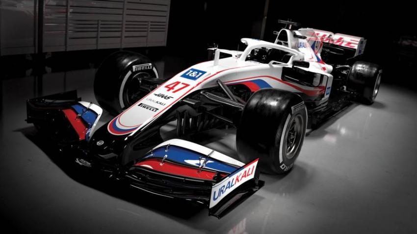 سيارة فريق هاس الجديدة. (twitter: @HaasF1Team)