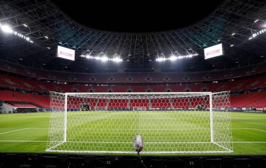 ملعب بوشكاش أرينا في العاصمة المجرية بودابست. (رويترز)