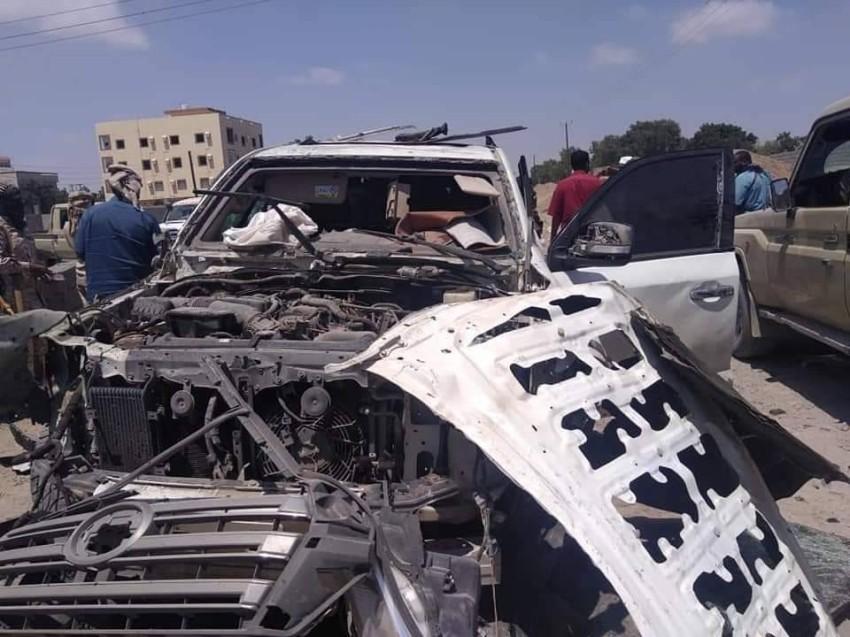 صورة لآثار الانفجار.