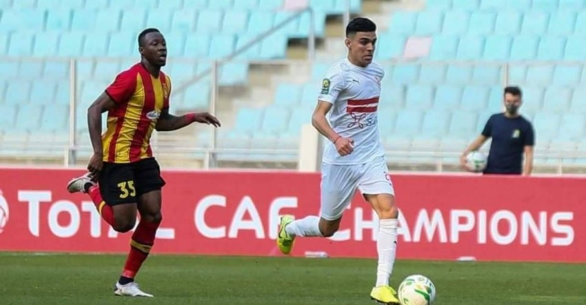 صورة من فوز الترجي التونسي على حساب الزمالك المصري في دوري أبطال أفريقيا. (أ ف ب)