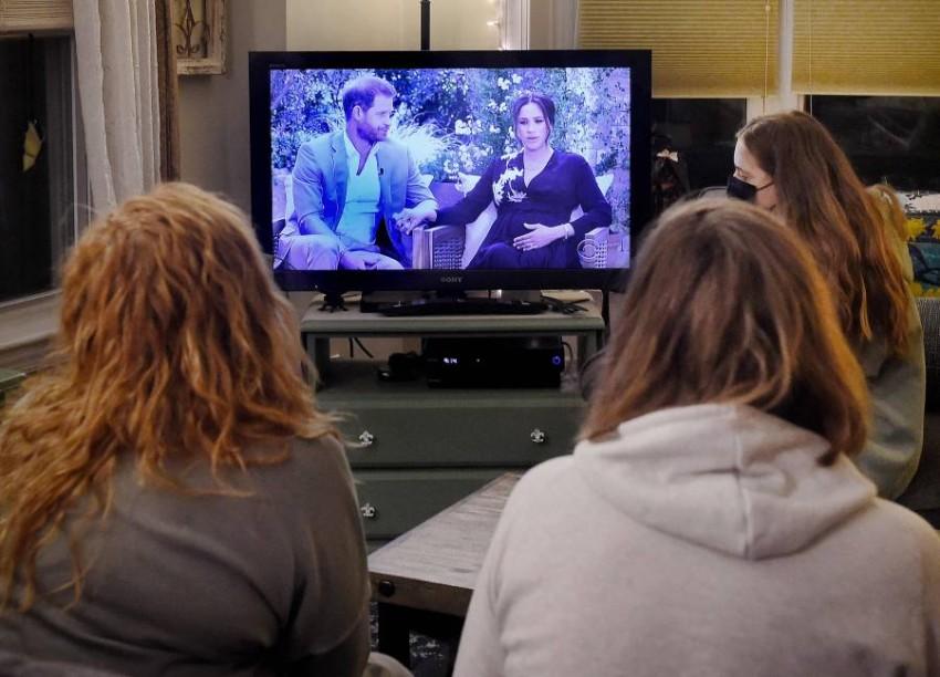 اللقاء التلفزيوني حظي باهتمام جماهيري كبير. (أ ف ب)