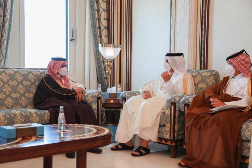 جلسة مباحثات بين وزير الخارجية السعودي وزير خارجية دولة قطر - واس.
