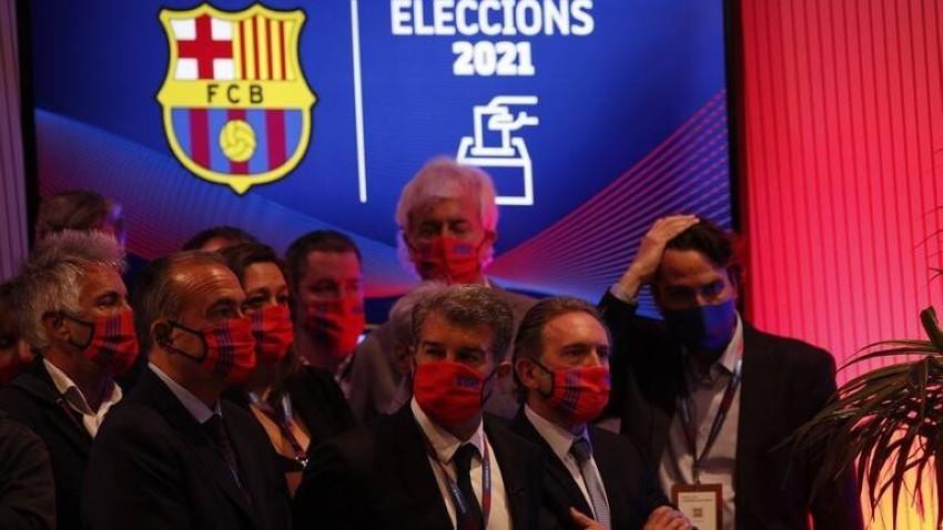خوان لابورتا رئيساً لنادي برشلونة (رويترز)