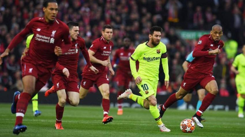 ليونيل ميسي ضد ليفربول. (ماركا)