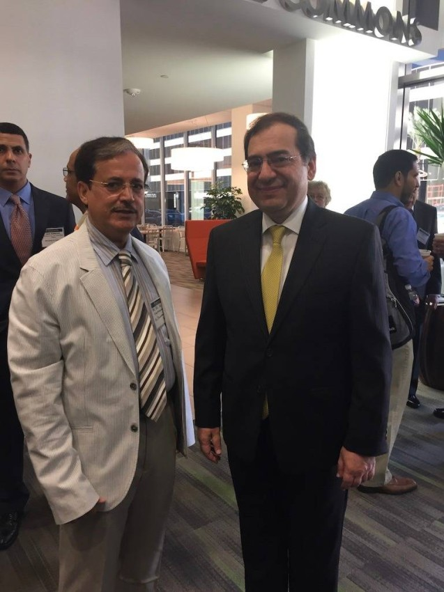 لقاء وزير البترول المصري في هيوستن بأمريكا عام 2017