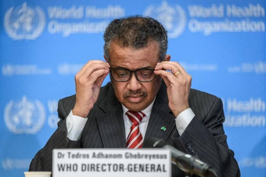 المدير العام لمنظمة الصحة العالمية تيدروس أدهانوم جيبريسوس - أ ف ب.
