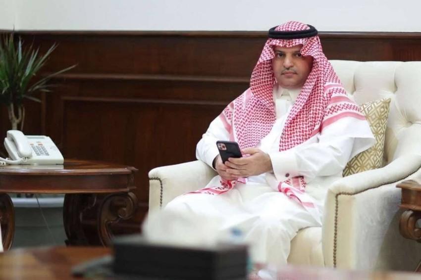 مسلي آل معمر رئيس النصر السعودي. (الحساب الرسمي لنادي النصر)