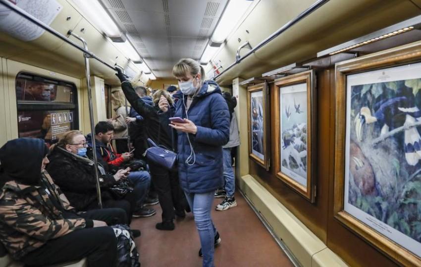 أحد القطارات في موسكو. (إي بي أيه)