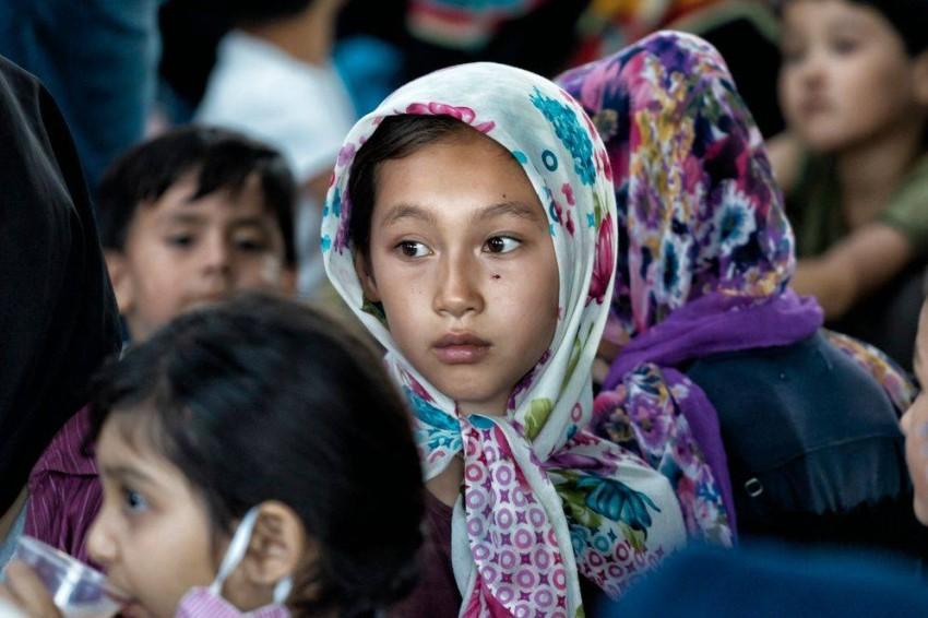 أطفال في مخيم موريا. (أرشيفية)