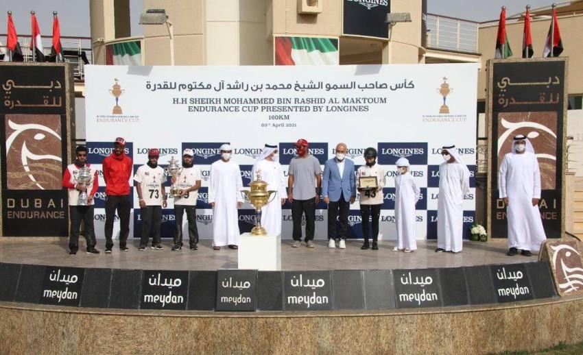 من تتويج أبطال كأس محمد بن راشد 2021 للقدرة. (الرؤية)