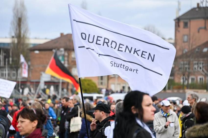 مظاهرات في ألمانيا رفضاً لقيود كورونا. (أي بي أيه)