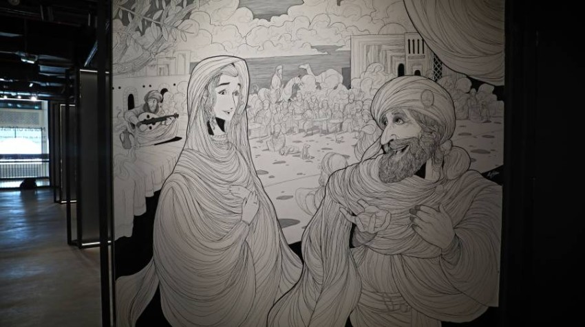 واحة ابداعات شابة في رمضانالفنان الاماراتي علي كشوانياعداد منورة عجيزتصوير محمد بدرالدين