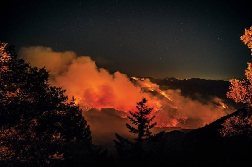 دخان الحرائق