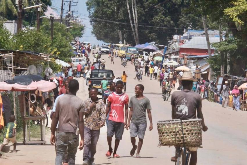 استولى الإرهابيون على مدينة بالما بعد هجمات منسقة في 24 مارس - أ ف ب.