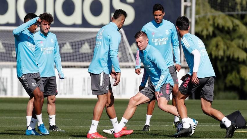 من تدريبات ريال مدريد.