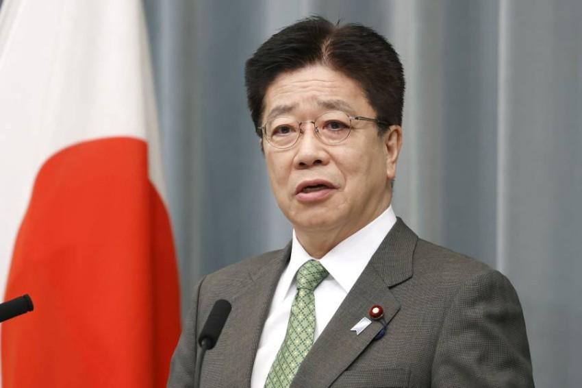 كبير أمناء مجلس الوزراء الياباني كاتسونوبو كاتو - أ ب.