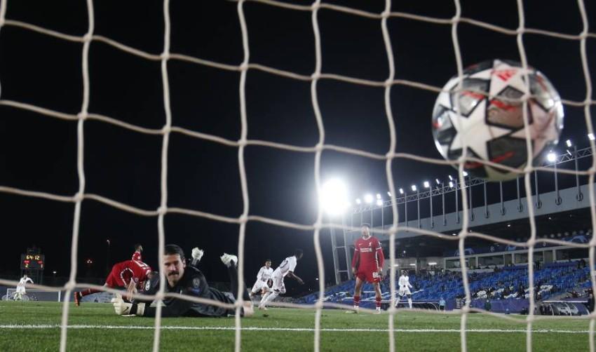 ريال مدريد جقق فوزاً مهماً في جولة الذهاب. (رويترز)