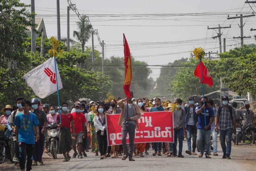 سقط أكثر من 580 قتيلاً في الاضطرابات التي تشهدها ميانمار منذ الأول من فبراير - EPA