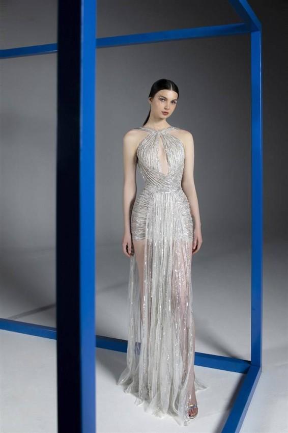 الفساتين بألوان الميتالك من رامي قاضي