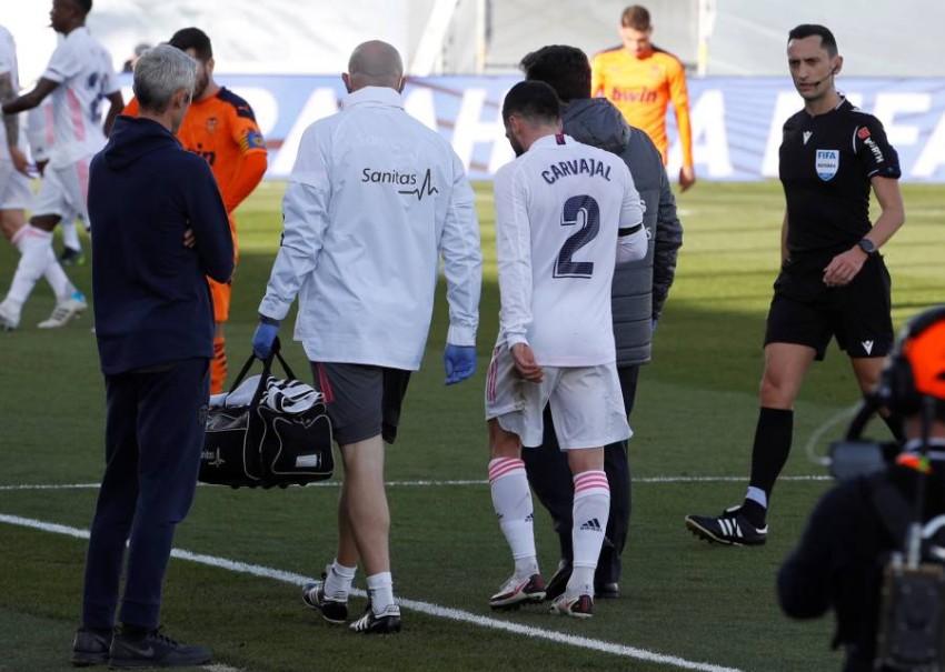 داني كارباخال مدافع ريال مدريد. (إ ب أ)