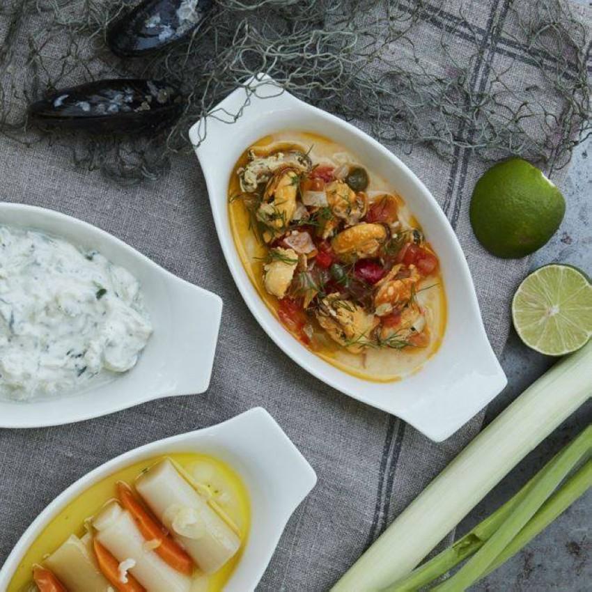الطعام في مطعم Fish Dubai