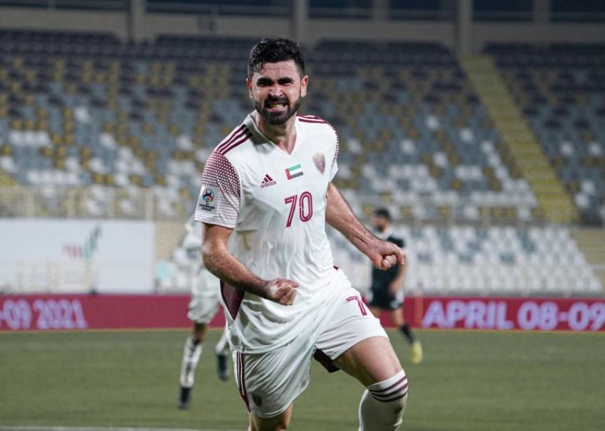 لاعب الوحدة عمر خربين. (من المصدر)