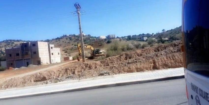 جانب من جماعة «لوطا» القروية (شمال المغرب).