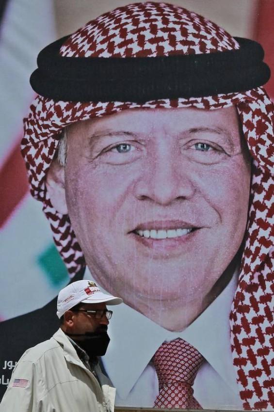 العاهل الأردني يحرص على تعزيز فرص السلام في المنطقة. (أ ف ب)