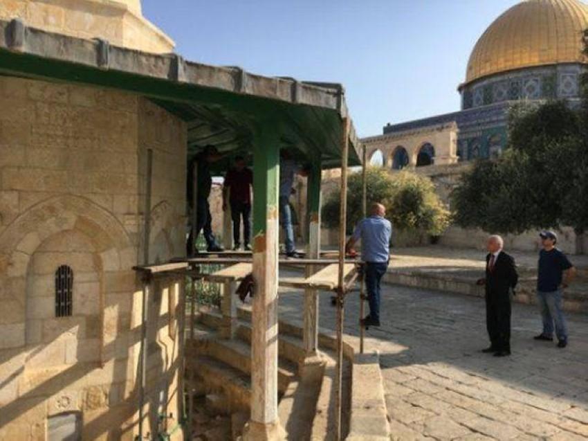 خلال عملية إعمار المسجد الأقصى المبارك. (أرشيف)