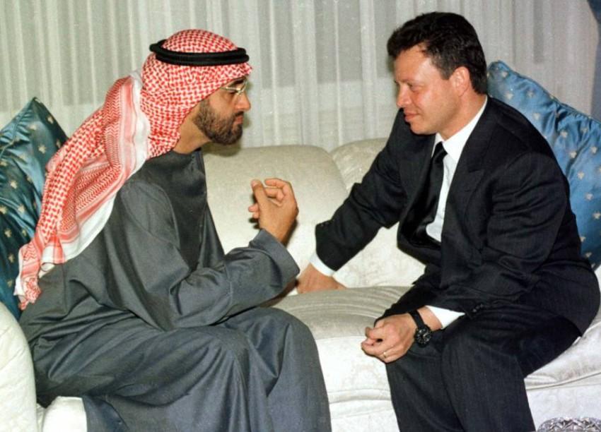 محمد بن زايد والملك عبدالله الثاني - رويترز.