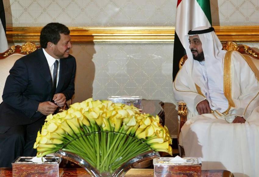 رئيس دولة الإمارات والعاهل الأردني - رويترز.
