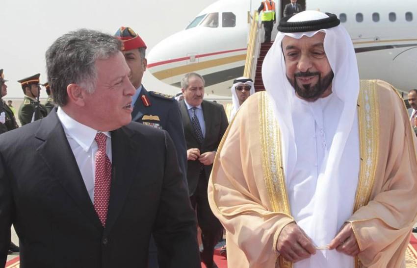 صاحب السمو الشيخ خليفة بن زايد آل نهيان والعاهل الأردني الملك عبدالله الثاني - رويترز.