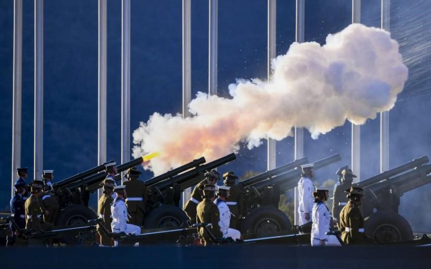 المدفعية الأسترالية أطلقت 41 طلقة لوداع الأمير الراحل. (أ ب)