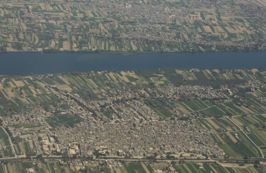 لقطة جوية لوادي النيل في جنوب مصر. (رويترز)