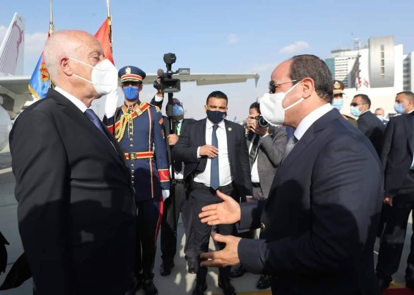 حفاوة مصرية بالرئيس قيس سعيد