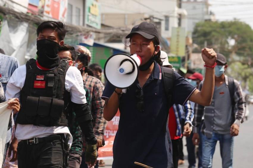 قوات الأمن في ميانمار قتلت أكثر من 80 من المتظاهرين الرافضين للانقلاب العسكري - EPA
