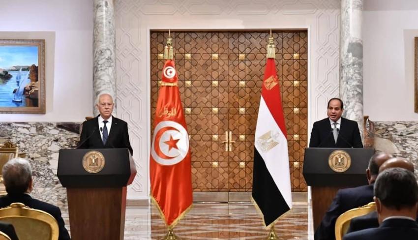 الرئيسان السيسي وقيس سعيد. (الرئاسة المصرية)