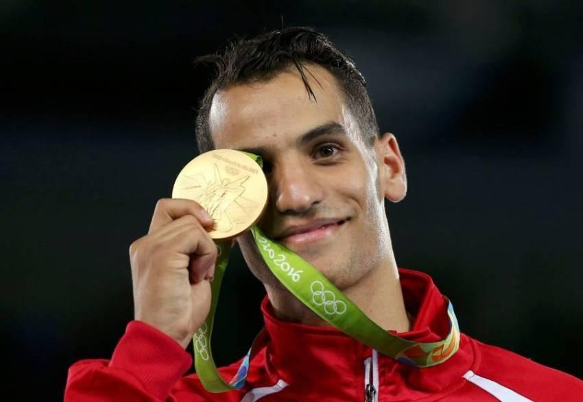 البطل الأولمبي أحمد أبوغواش. (من المصدر)